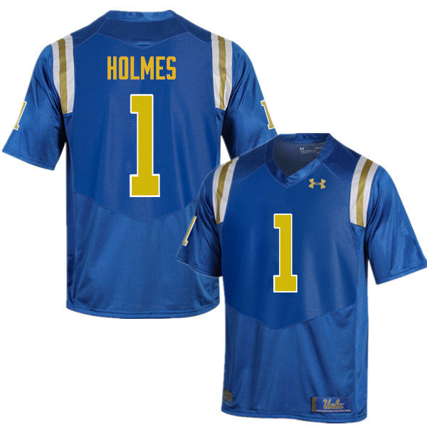 Men #1 Darnay Holmes UCLA Bruins Under Armour College Football Jerseys Sale-Blue
