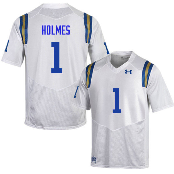 Men #1 Darnay Holmes UCLA Bruins Under Armour College Football Jerseys Sale-White