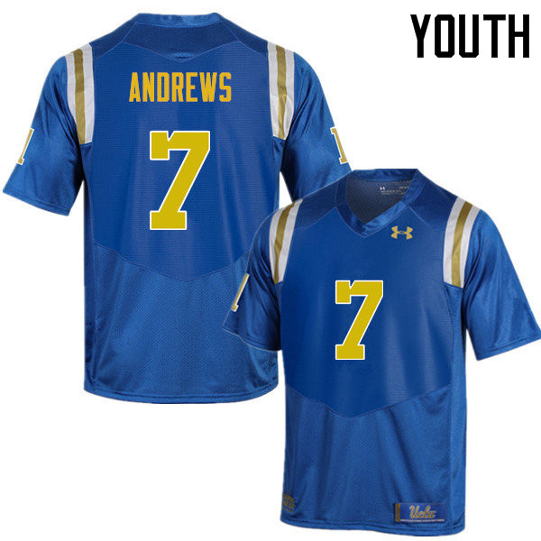 Youth #7 Darren Andrews UCLA Bruins Under Armour College Football Jerseys Sale-Blue
