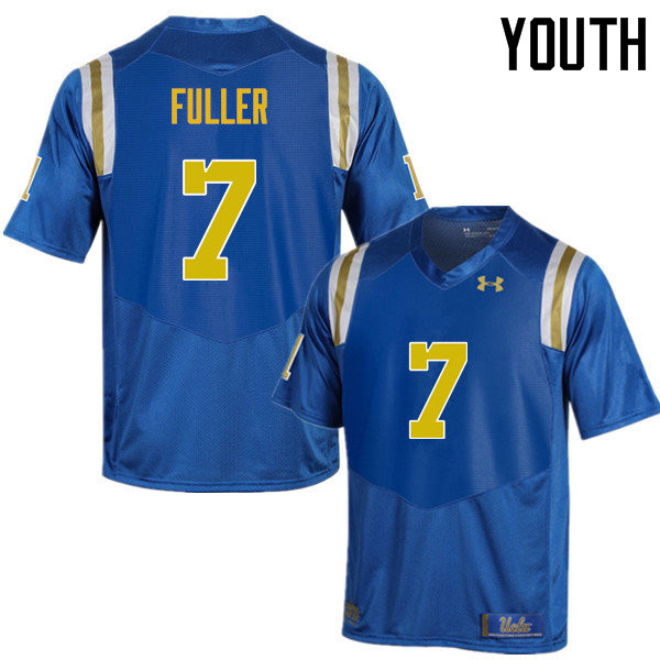 Youth #7 Devin Fuller UCLA Bruins Under Armour College Football Jerseys Sale-Blue