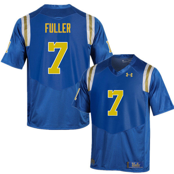 Men #7 Devin Fuller UCLA Bruins Under Armour College Football Jerseys Sale-Blue
