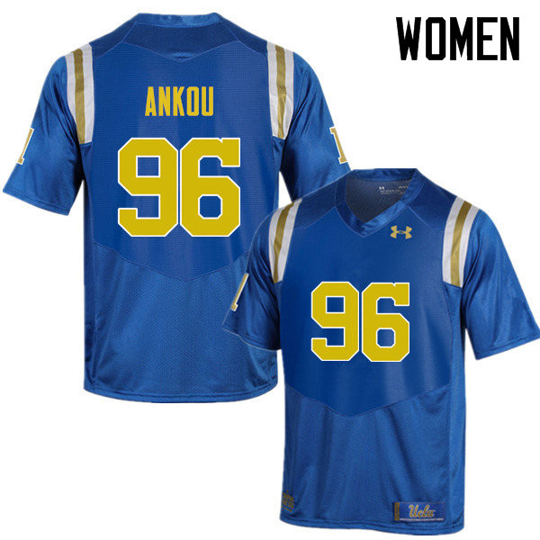 Women #96 Eli Ankou UCLA Bruins Under Armour College Football Jerseys Sale-Blue