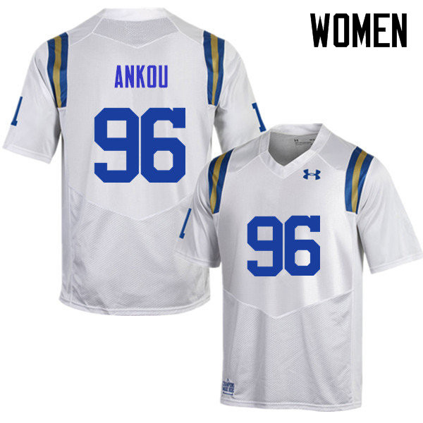 Women #96 Eli Ankou UCLA Bruins Under Armour College Football Jerseys Sale-White