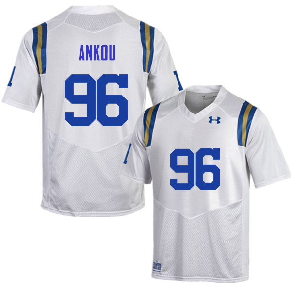 Men #96 Eli Ankou UCLA Bruins Under Armour College Football Jerseys Sale-White