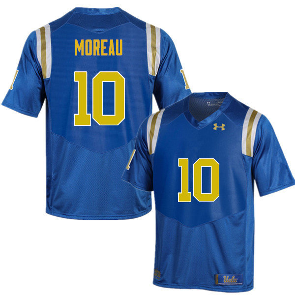 Men #10 Fabian Moreau UCLA Bruins Under Armour College Football Jerseys Sale-Blue
