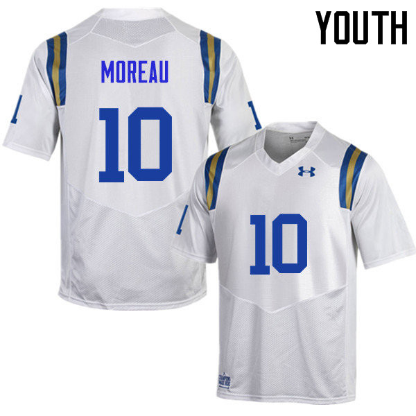 Youth #10 Fabian Moreau UCLA Bruins Under Armour College Football Jerseys Sale-White