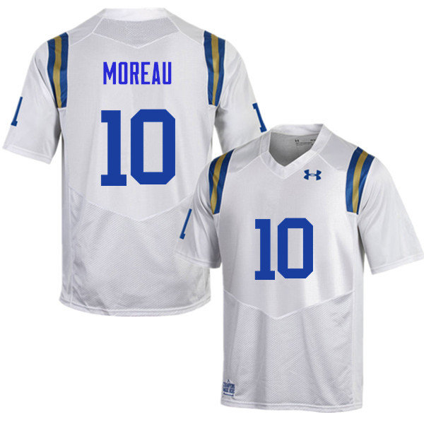 Men #10 Fabian Moreau UCLA Bruins Under Armour College Football Jerseys Sale-White
