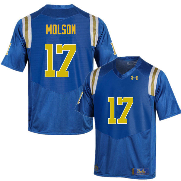 Men #17 JJ Molson UCLA Bruins Under Armour College Football Jerseys Sale-Blue