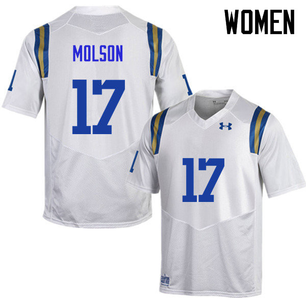 Women #17 JJ Molson UCLA Bruins Under Armour College Football Jerseys Sale-White