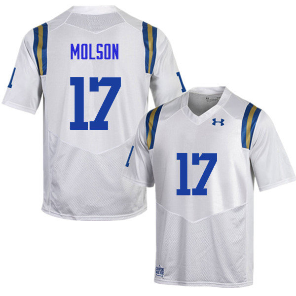 Men #17 JJ Molson UCLA Bruins Under Armour College Football Jerseys Sale-White