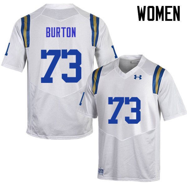 Women #73 Jake Burton UCLA Bruins Under Armour College Football Jerseys Sale-White