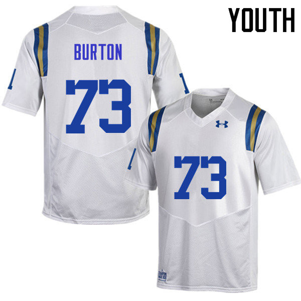 Youth #73 Jake Burton UCLA Bruins Under Armour College Football Jerseys Sale-White