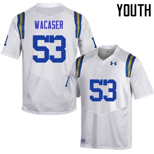Youth #53 Jax Wacaser UCLA Bruins Under Armour College Football Jerseys Sale-White