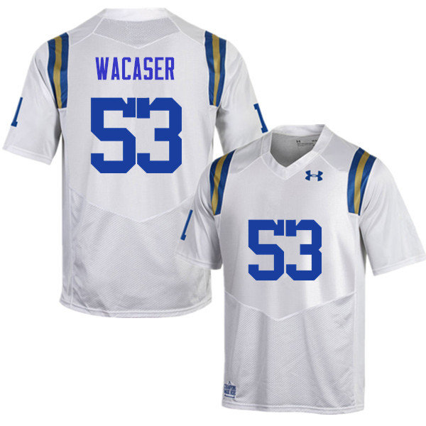 Men #53 Jax Wacaser UCLA Bruins Under Armour College Football Jerseys Sale-White