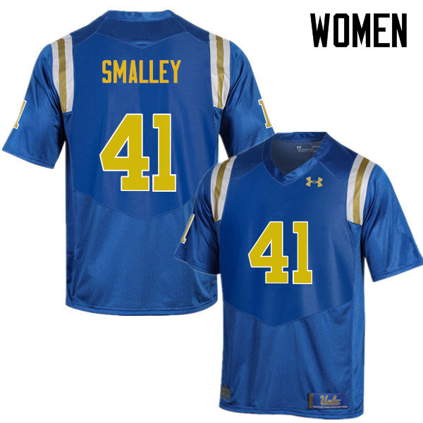 Women #41 Jayce Smalley UCLA Bruins Under Armour College Football Jerseys Sale-Blue