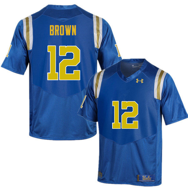Men #12 Jayon Brown UCLA Bruins Under Armour College Football Jerseys Sale-Blue