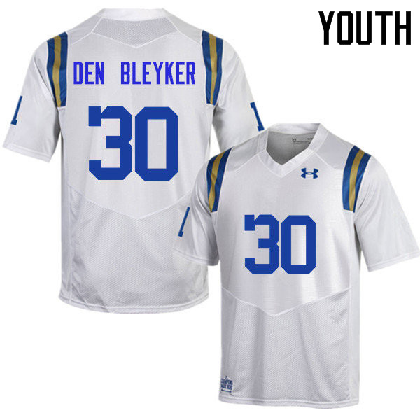 Youth #30 Johnny Den Bleyker UCLA Bruins Under Armour College Football Jerseys Sale-White