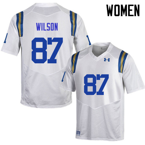 Women #87 Jordan Wilson UCLA Bruins Under Armour College Football Jerseys Sale-White