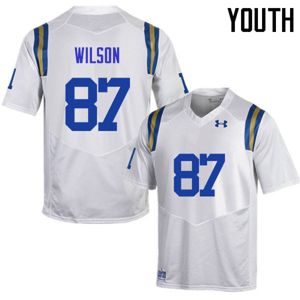 Youth #87 Jordan Wilson UCLA Bruins Under Armour College Football Jerseys Sale-White