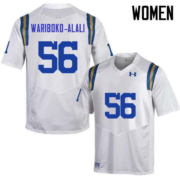 Women #56 Josh Wariboko-Alali UCLA Bruins Under Armour College Football Jerseys Sale-White