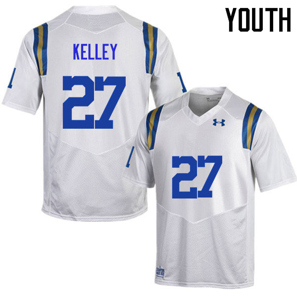 Youth #27 Joshua Kelley UCLA Bruins Under Armour College Football Jerseys Sale-White