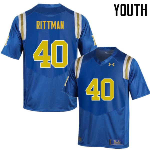 Youth #40 Justin Rittman UCLA Bruins Under Armour College Football Jerseys Sale-Blue