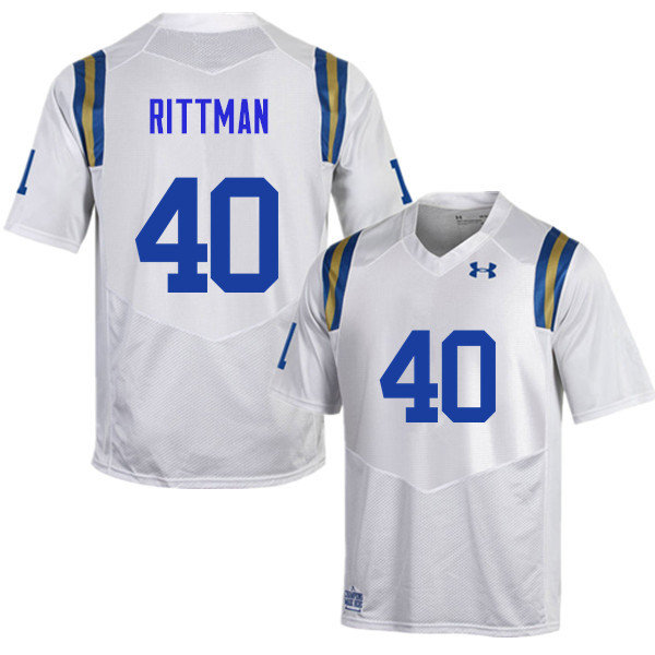 Men #40 Justin Rittman UCLA Bruins Under Armour College Football Jerseys Sale-White