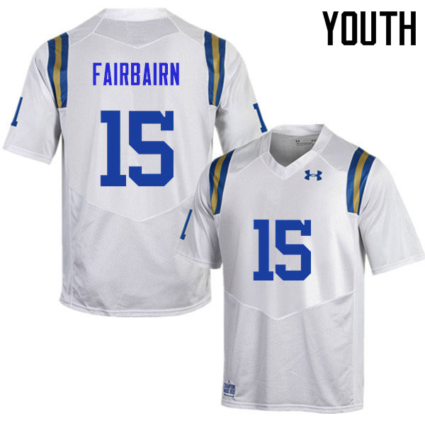 Youth #15 Ka'imi Fairbairn UCLA Bruins Under Armour College Football Jerseys Sale-White