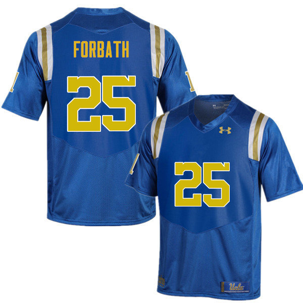 Men #25 Kai Forbath UCLA Bruins Under Armour College Football Jerseys Sale-Blue