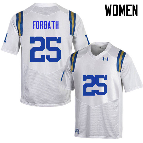 Women #25 Kai Forbath UCLA Bruins Under Armour College Football Jerseys Sale-White