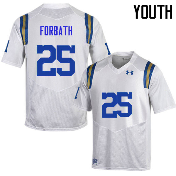 Youth #25 Kai Forbath UCLA Bruins Under Armour College Football Jerseys Sale-White