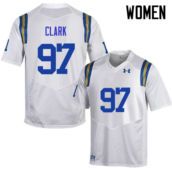 Women #97 Kenny Clark UCLA Bruins Under Armour College Football Jerseys Sale-White