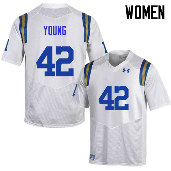 Women #42 Kenny Young UCLA Bruins Under Armour College Football Jerseys Sale-White