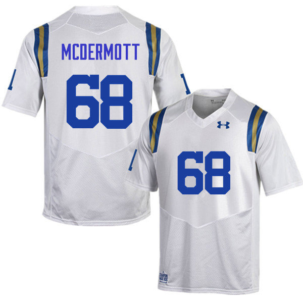 Men #68 Kevin McDermott UCLA Bruins Under Armour College Football Jerseys Sale-White