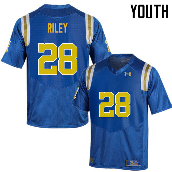 Youth #28 Keyon Riley UCLA Bruins Under Armour College Football Jerseys Sale-Blue
