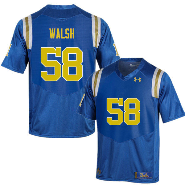 Men #58 Koby Walsh UCLA Bruins Under Armour College Football Jerseys Sale-Blue