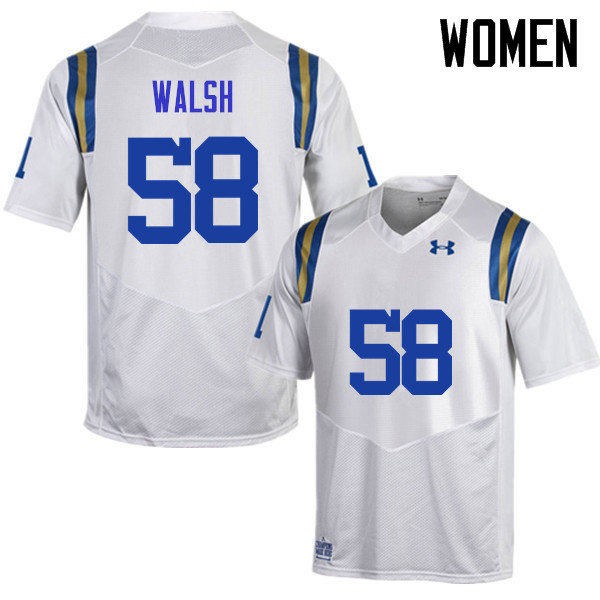 Women #58 Koby Walsh UCLA Bruins Under Armour College Football Jerseys Sale-White