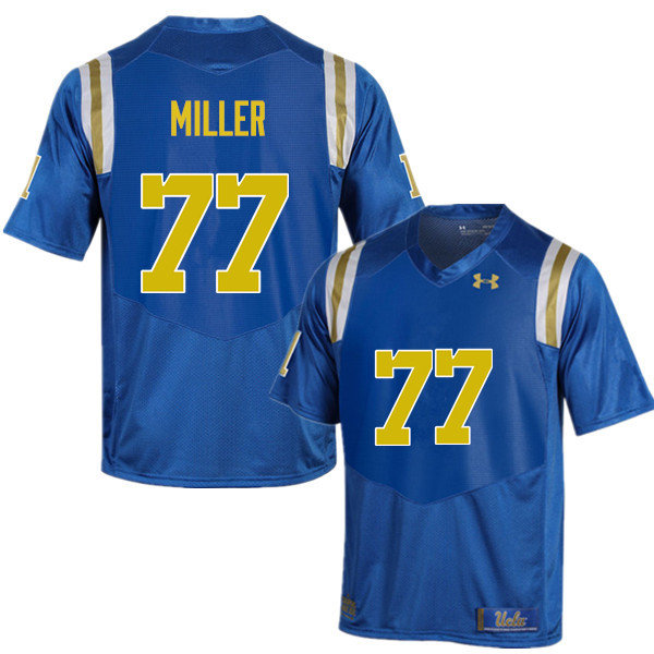 Men #77 Kolton Miller UCLA Bruins Under Armour College Football Jerseys Sale-Blue