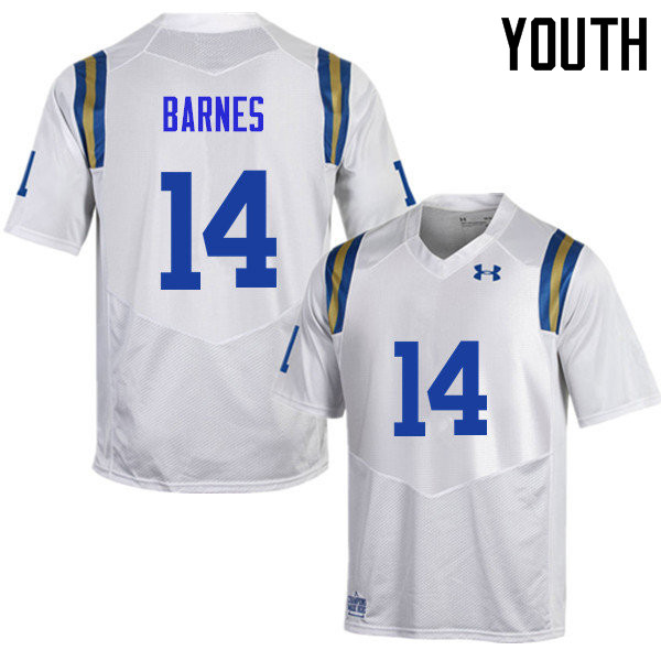 Youth #14 Krys Barnes UCLA Bruins Under Armour College Football Jerseys Sale-White