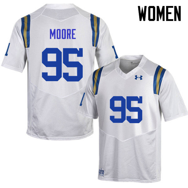 Women #95 Marcus Moore UCLA Bruins Under Armour College Football Jerseys Sale-White