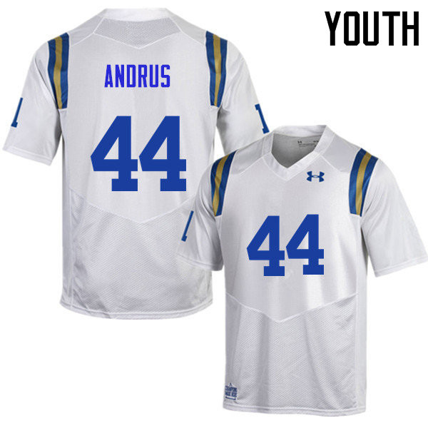 Youth #44 Martin Andrus UCLA Bruins Under Armour College Football Jerseys Sale-White