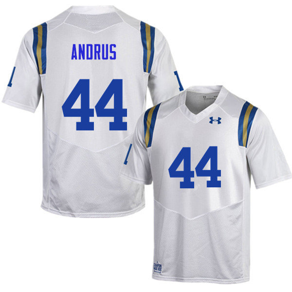Men #44 Martin Andrus UCLA Bruins Under Armour College Football Jerseys Sale-White