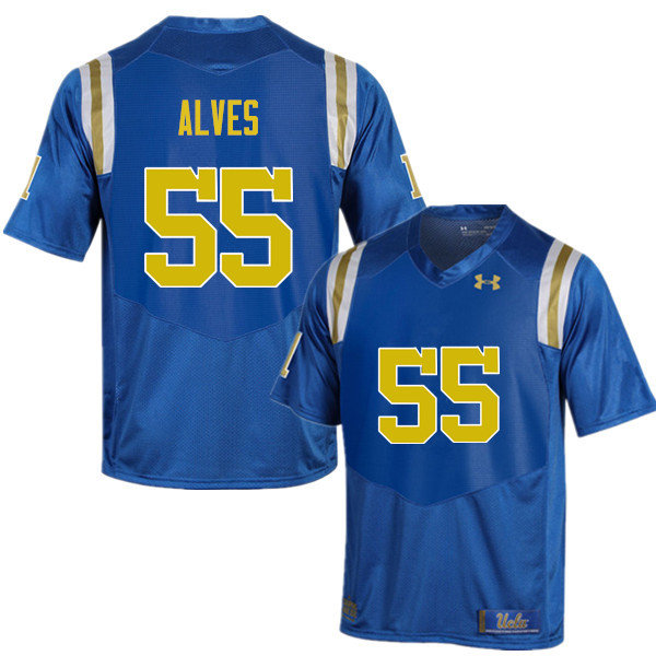 Men #55 Michael Alves UCLA Bruins Under Armour College Football Jerseys Sale-Blue