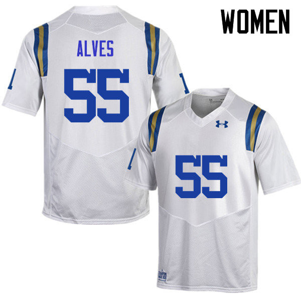 Women #55 Michael Alves UCLA Bruins Under Armour College Football Jerseys Sale-White
