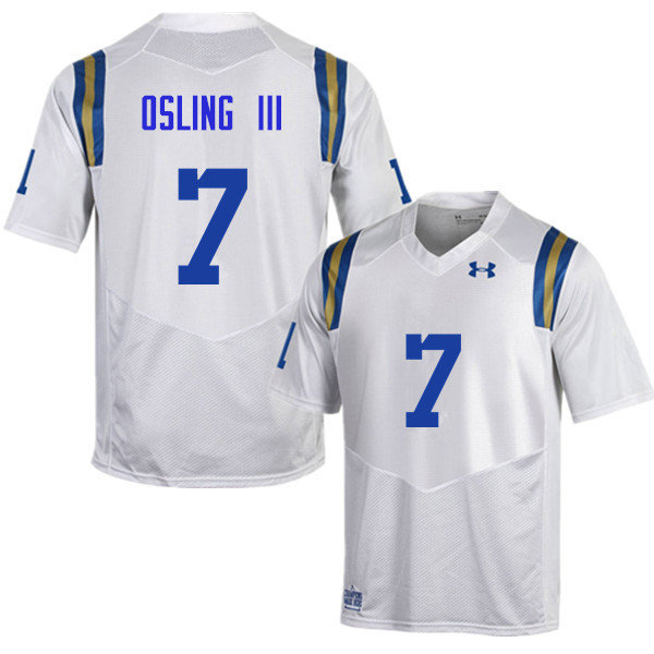 Men #7 Mo Osling III UCLA Bruins Under Armour College Football Jerseys Sale-White