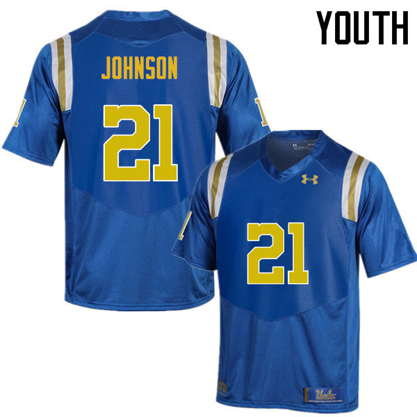 Youth #21 Mossi Johnson UCLA Bruins Under Armour College Football Jerseys Sale-Blue