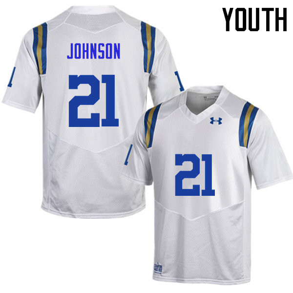 Youth #21 Mossi Johnson UCLA Bruins Under Armour College Football Jerseys Sale-White