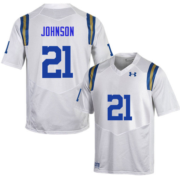 Men #21 Mossi Johnson UCLA Bruins Under Armour College Football Jerseys Sale-White