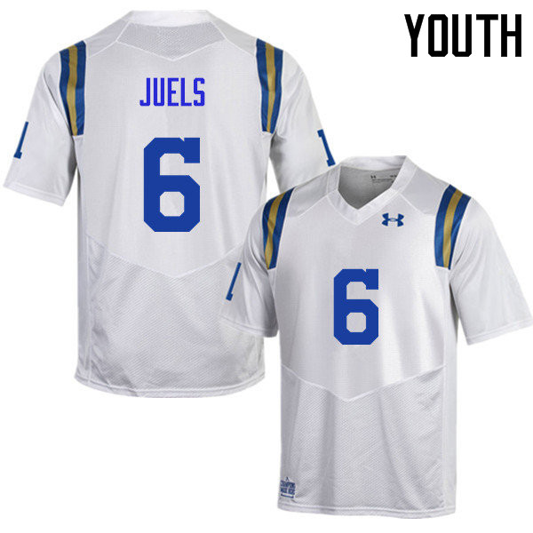 Youth #6 Nick Juels UCLA Bruins Under Armour College Football Jerseys Sale-White