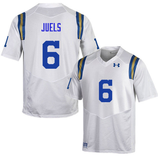 Men #6 Nick Juels UCLA Bruins Under Armour College Football Jerseys Sale-White
